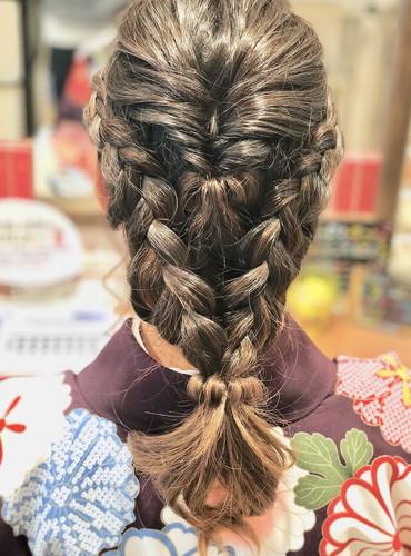 平塚の美容室Le'aのヘアセットモデル